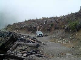 My Truck In a Clearcut In Klanawa