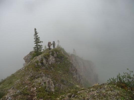 climbing-through-fog