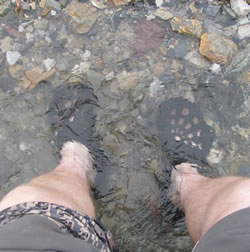 Soaking Feet in Creek